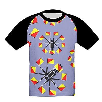 DHj1 Tshirt Human Flag Geometric Kids Workout and Training Baseball Raglan Short Sleeve T-Shirts