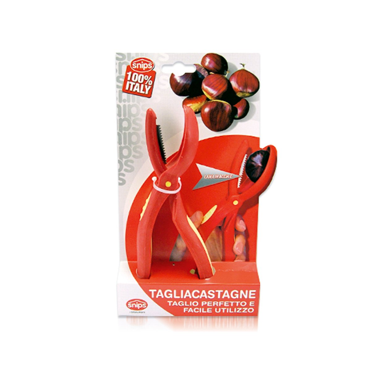 Compra Snips - Cascador de castañas (plástico y acero), color rojo en Amazon.es