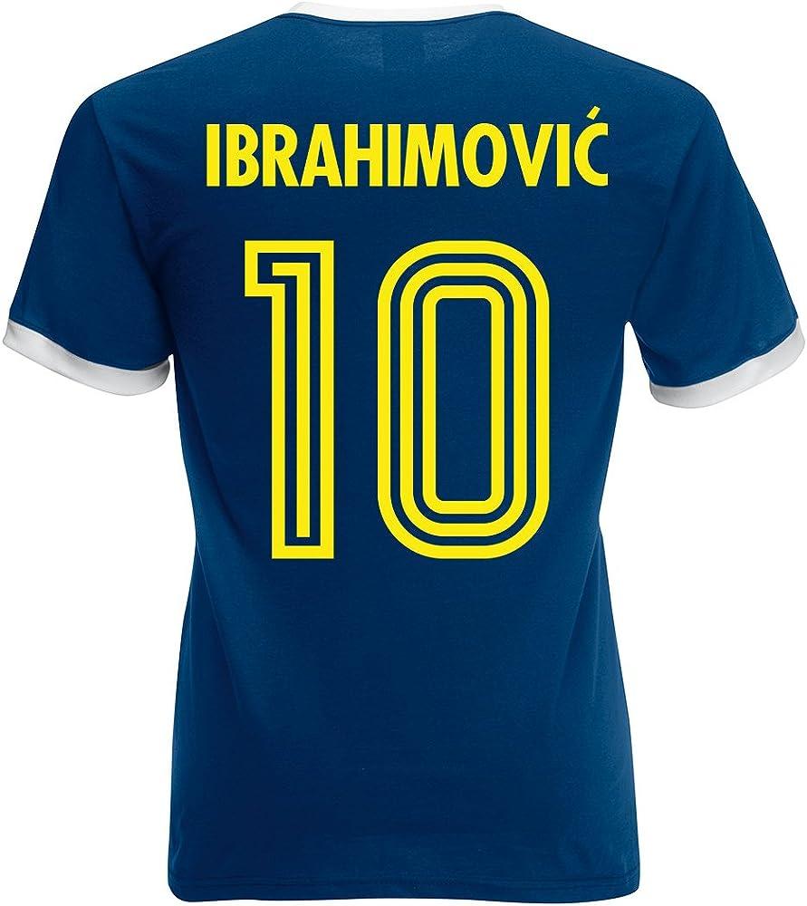 Camiseta retro para hombre del futbolista sueco Zlatan Ibrahimović ...
