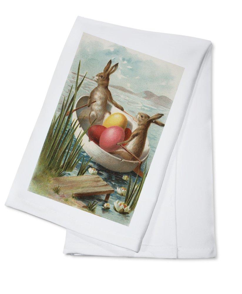 夏セール開催中 MAX80%OFF! Easter – Boat Bunnies Bunnies In A Boat With Towel Colored卵 Cotton Towel LANT-10510-TL B0184B9VMO Cotton Towel, GLITTER DRESS:d4678561 --- arianechie.dominiotemporario.com