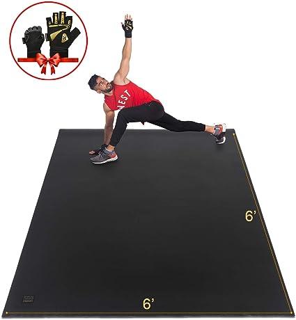 Amazon Com Gxmmat Large Exercise Mat 6 X6 X7mm Workout Mats For