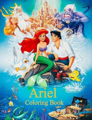 Ariel Coloring Book: Coloring Book for Kids and Adults with Fun, Easy, and Relaxing Coloring Pages (Coloring Books for Adults and Kids 2-4 4-8 8-12+)