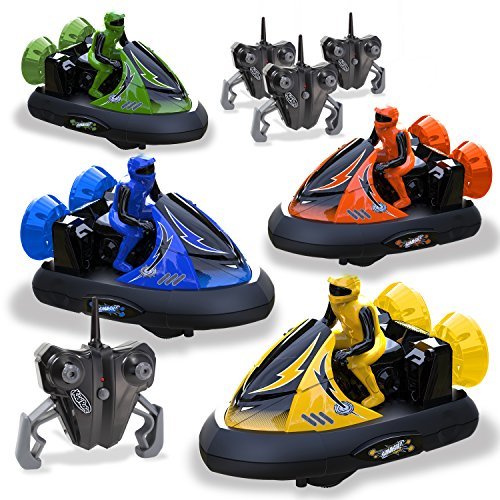 Kidirace 2400 Rc Bumper Cars Remote Control Set of 4-with Re