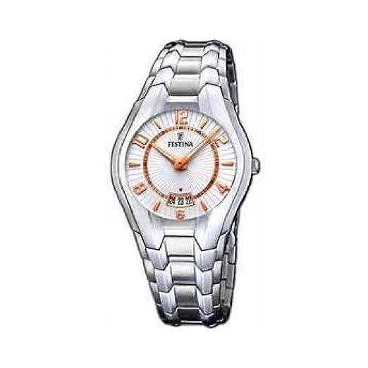FESTINA F16370/3 Reloj de cuarzo, con caja y brazalete de acero.: Amazon.es: Relojes