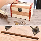 Wooden Storage Box,Sundlight Retro Wooden Treasure Box Jewelry Coin Holder Storage Organizer,S/M