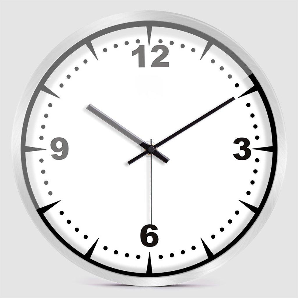 LINGZHIGAN ウォールクロックホームデコレーションシンプルなパーソナリティクリエイティブウォールクロックリビングルームベッドルーム家の装飾電子時計 ( 色 : シルバー しるば゜ , サイズ さいず : 12インチ ) B07BTZRJ9X 12インチ|シルバー しるば゜ シルバー しるば゜ 12インチ