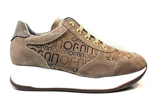 Liu Jo Girl B23295 Nero e Taupe Sneakers Scarpe Donna Calzature Comode   Amazon.it  Scarpe e borse 6f13ce095ba