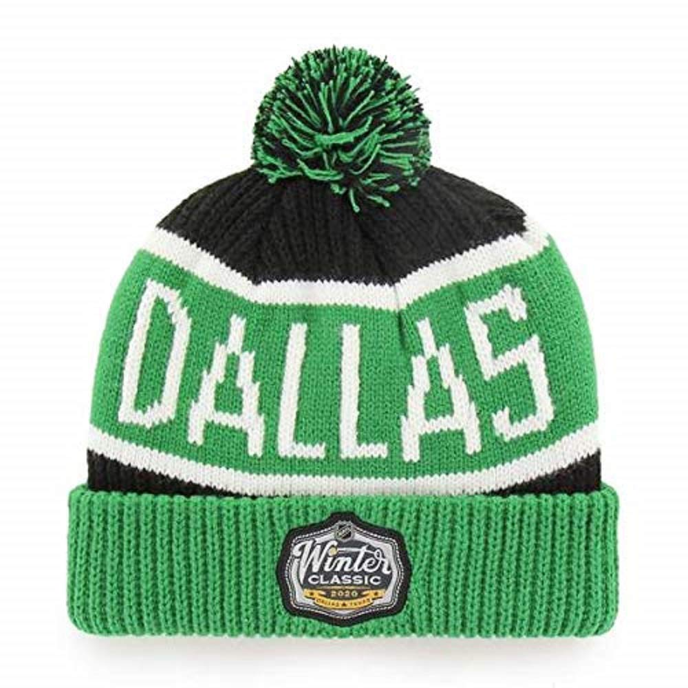 47 Dallas Stars 2020 Winter Classic Calgary Cuffed Pom Knit Hat