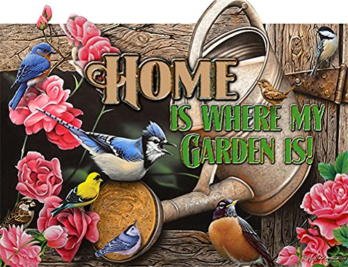 SignMission Home is Where My Garden is! Novelty Sign | Indoor/Outdoor | Funny Home Décor for Garages, Living Rooms, Bedroom, Offices Personalized Gift Wall Plaque Decoration from SignMission