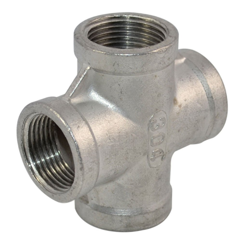Metal Pipe Coupling : Good quot female thread way cross coupling connector