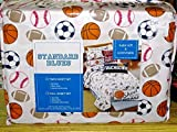 Standard Blues TWIN SHEET SET - sports Soccer Football Basketball Baseball