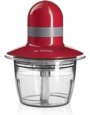 Bosch MMR08R2 - Picadora, capacidad de 0.8 l. 400 W, color rojo