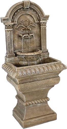 Sunnydaze Ornate Lavello Standing Wall Fountain