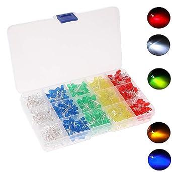 De Lampes Kit Gasea Assortiment Électroluminescente Émettant Lumière Composants Arduino5 Diode Led 500pcs Pour 5mm Électroniques xdoChrsQBt
