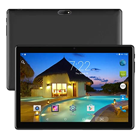 Android Tablet 10 inch Unlocked Widescreen Tablet Dual Sim Sard Slots, 10.1