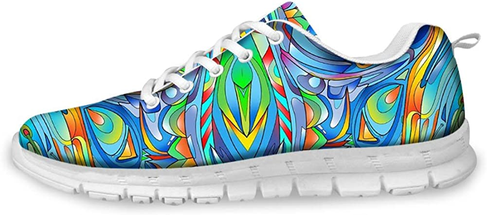 Colorful Weed Marijuana Leaves Mens lightweight Athelitic Running shoes lace-up breathable fitness sneakers