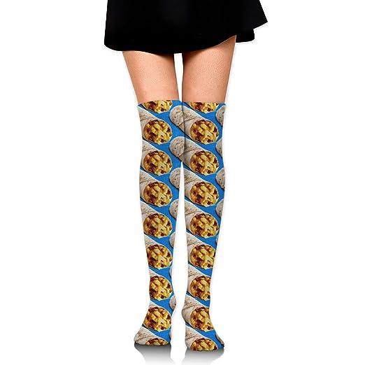 Taco Burrito Pattern Womens Knee High Socks Fancy Design ...