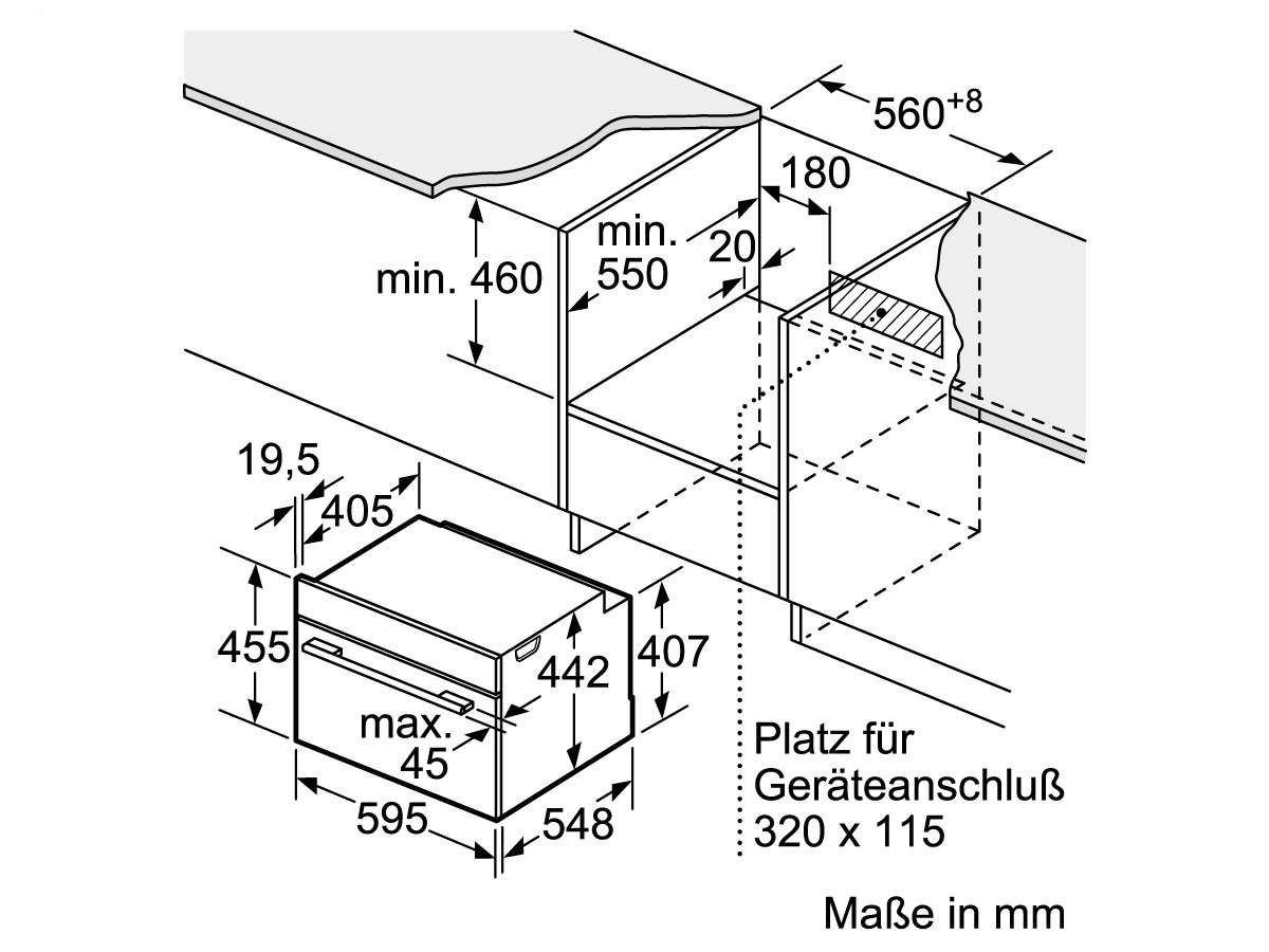 SIEMENS Backofen Einbau-Backofen aus Edelstahl CS636GBS2 inox//schwarz
