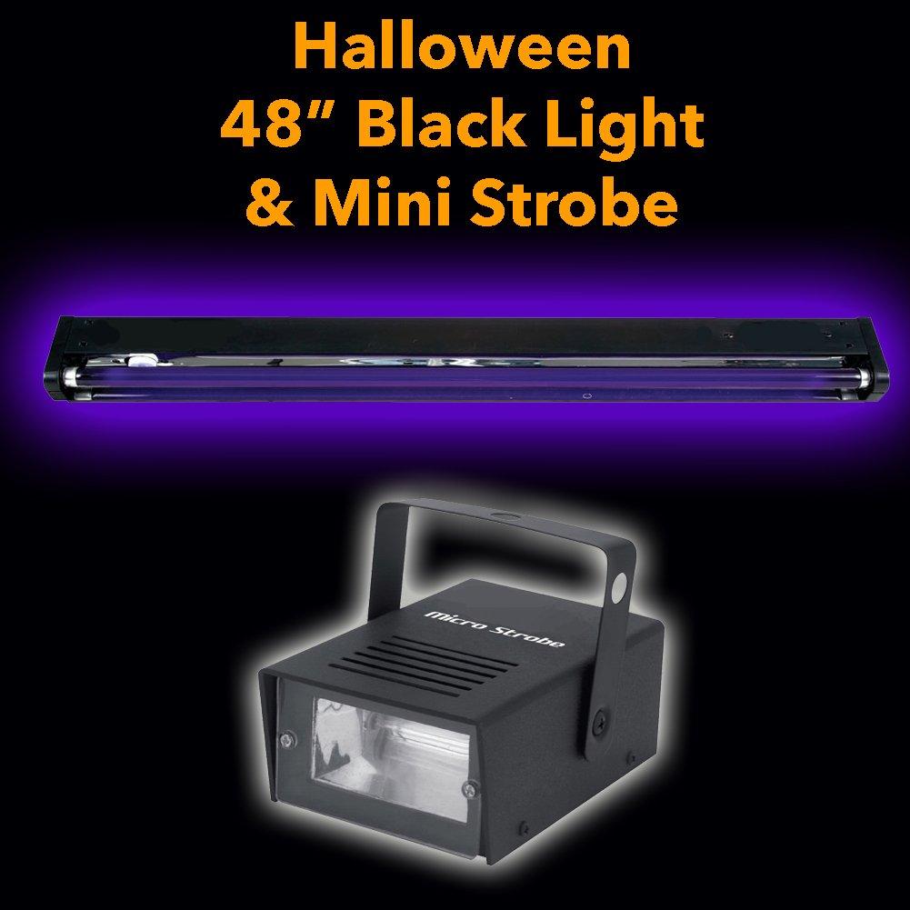 Halloween Pack 48'' Black Light and Mini Strobe
