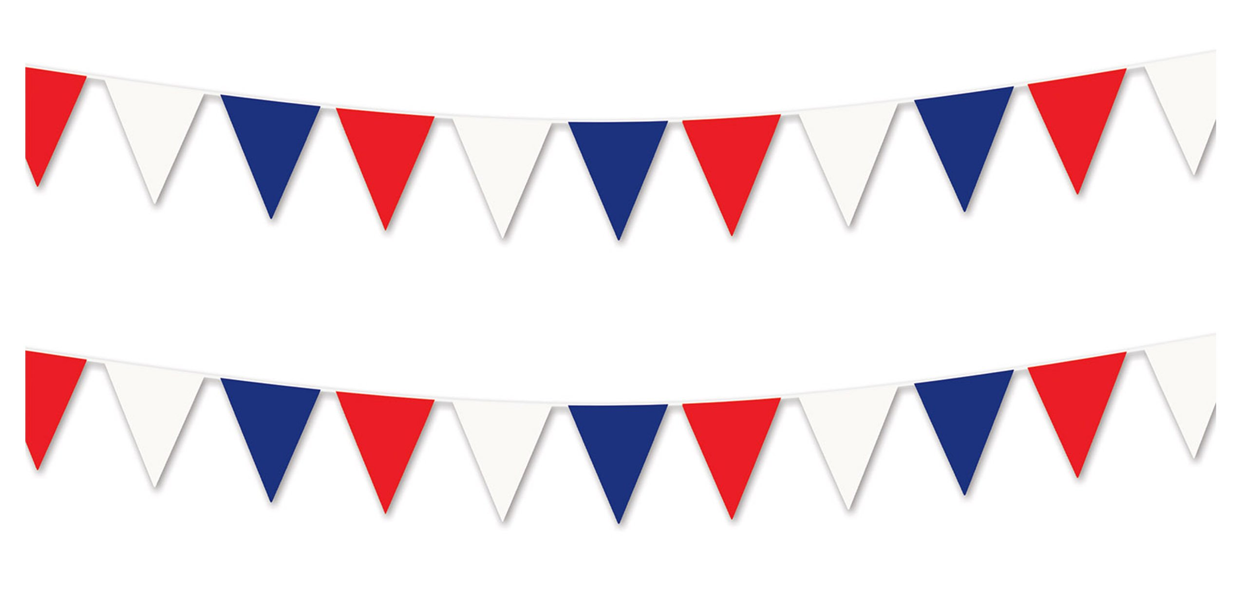 Beistle S50700-RWBAZ2 Pennant banner, Red/White/Blue
