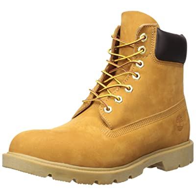 "Timberland Men's 6"" Basic Boot-Contrast Collar, Wheat Nubuck, 10 M US: TIMBERLAND: Shoes"