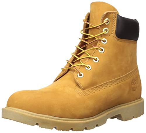 "0113f4e2eaf99 Timberland Men's 6"" Basic Contrast Collar Boot, Wheat Nubuck, ..."