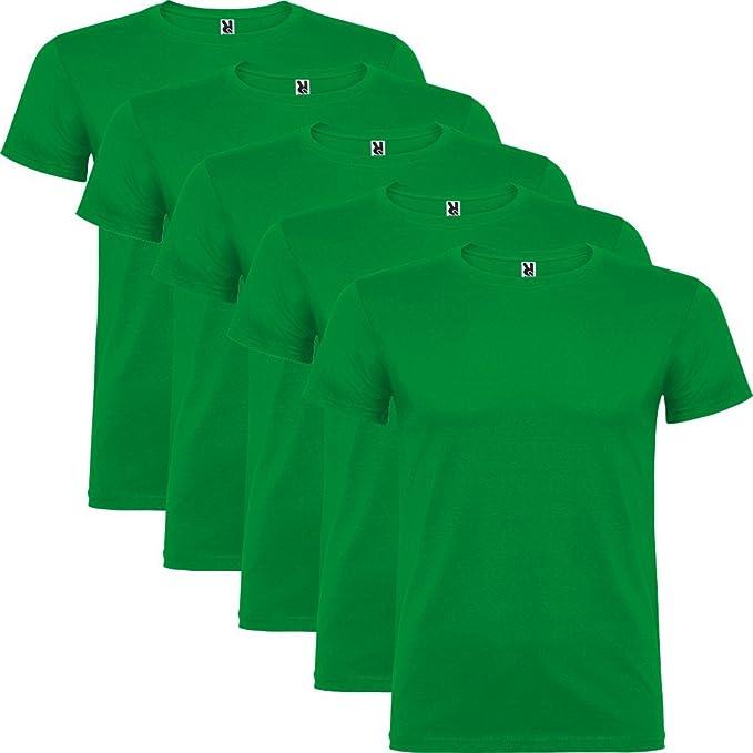 Dalim Pack de 5 Camisetas Verdes para Hombre, 100% Algodón, Beagle: Amazon.es: Ropa y accesorios