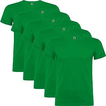 Dalim Pack de 5 Camisetas Verdes para Hombre, 100% Algodón, Beagle ...