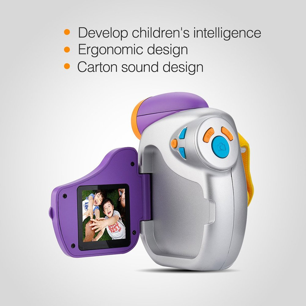 Studyset Funny Puzzle Enfants Handheld Digital Video Camera avec poignée Ergonomique