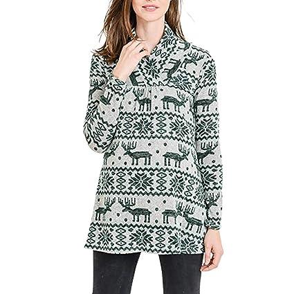 245e80c329b Nacome Maternity Christmas Deer Shirt Printing Maternity Tops Maternity  Long Sleeve Shirts (Green