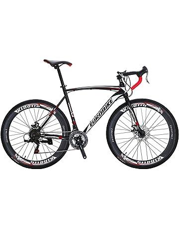 e5cd1451b27 EUROBIKE Road Bike EURXC550 21 Speed 49 cm Frame 700C Wheels Road Bicycle  Dual Disc Brake