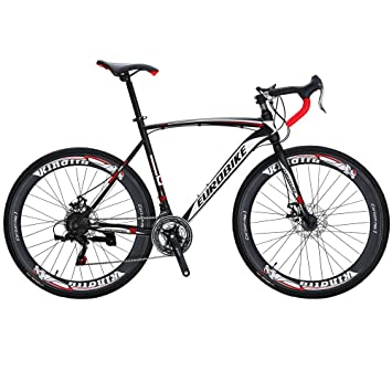 Eurobike Bicicleta de carretera XC550 21 velocidades 49 cm / 54 cm Marco 700C Bicicleta con