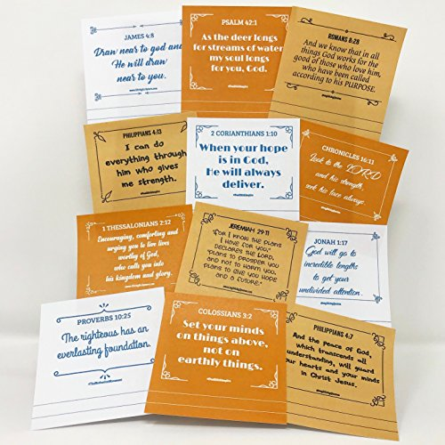 Study Bible Sticky Notes Super Pack - Scripture Notes for Prayer & Inspirational Reminders - 3 Unique Pads 50 Sheets/Pad - White, Orange and Tan -