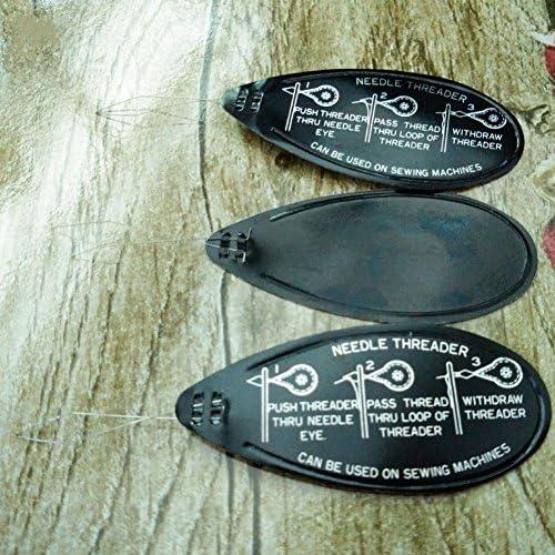 negro inserto de punto de alambre de arco 5 enhebradores de agujas de aluminio