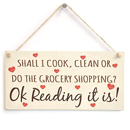 Mr.sign Cook Clean Grocery Shopping Cartel de Pared Madera ...