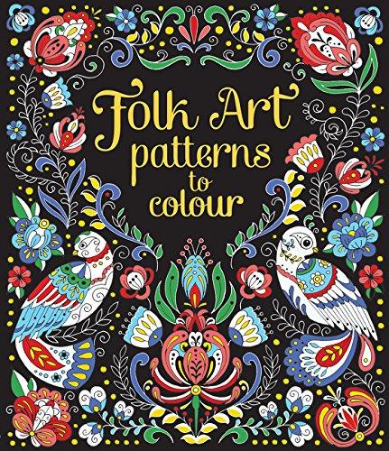 Folk Art Patterns to Colour -