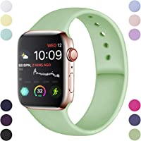 Hamile Armband Kompatibel für Apple Watch 38mm 42mm 40mm 44mm, Weiche Silikon Wasserdicht Ersatz Uhrenarmbänder für Apple Watch Series 5, Series 4, Series 3, Series 2, Series 1 S/M, M/L, 20 Farben