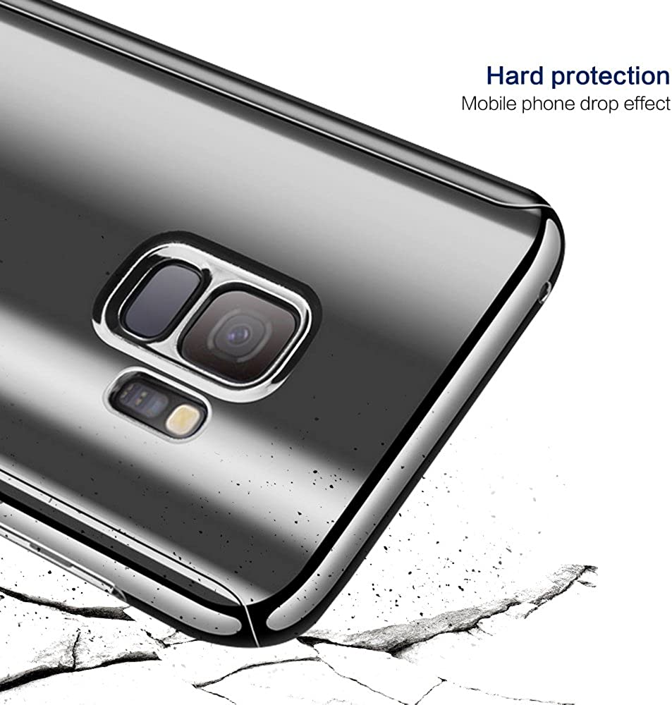 Glatt Hard PC Oberfl/äche Kratzfeste S9 Cover f/ür Samsung S9+,Schwarz 3 in 1 Slim Robust/Handy Bumper H/ülle Jubyi Schutzh/ülle f/ür Samsung Galaxy S9//S9Plus Handyh/ülle