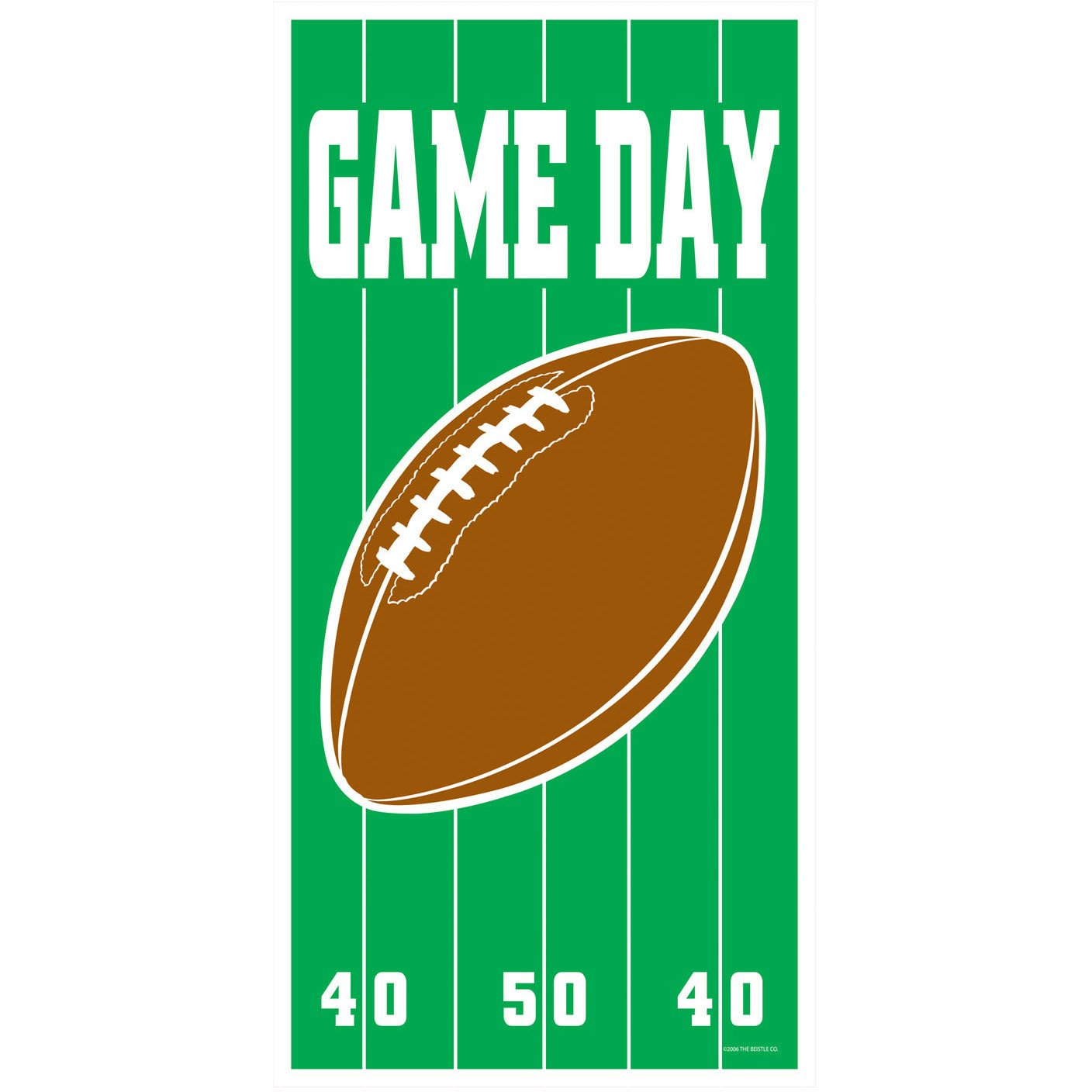 football game day door sign decoration