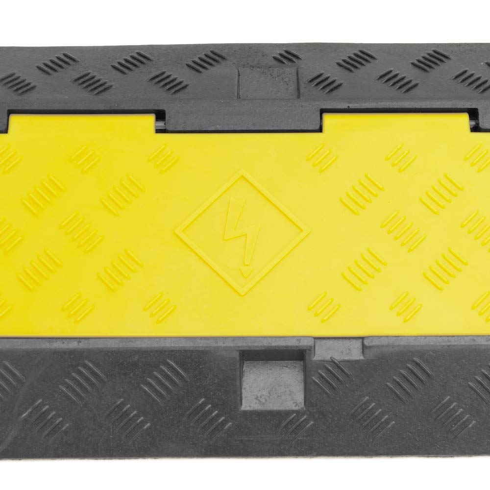 PrimeMatik Cable floor cover protector trunking rubber bumper 3 way 99x30cm
