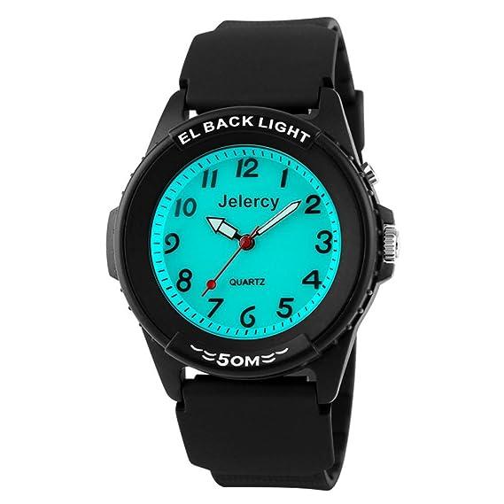 5ba8be36ca8 Boys Watches Kids Analog Wrist 164FT Waterproof Backlight Sports Watch for  Children(Black)