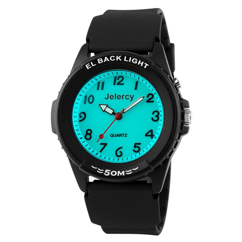 Boys Watches Kids Analog Wrist 164FT Waterproof Backlight Sports Watch for Children(Black)