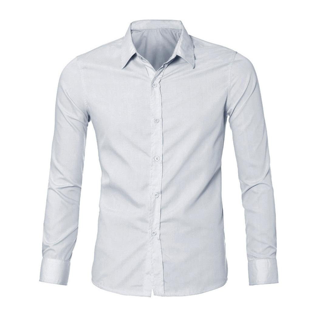 YANG-YI Mens Luxury Stylish Casual Tops Slim Fit T-Shirts Casual Long Sleeve Blouse