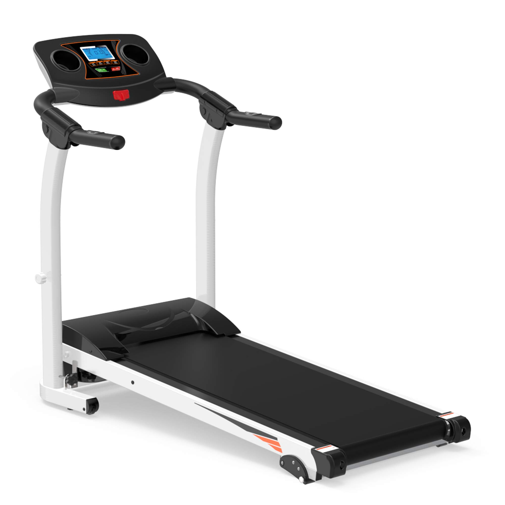 Rhomtree Folding Treadmill Electric Motorized Power Running Machine with Incline Walking Jogging Exercise Fitness Treadmill Workout Trainer Equipment for Home Gym Office by Rhomtree