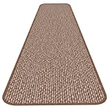 House, Home and More Skid-resistant Carpet Runner - Praline Brown - 12 Ft. X 27 In. - Many Other Sizes to Choose From