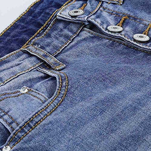 Haut Taille Slim Pantalon Femmes Coupe Pantalon vas Jeans Cowboy la HauteSisit Denim Jeans Skinny Veau Pantalon Trou Stretch Bleu Taille Id0xtqdw