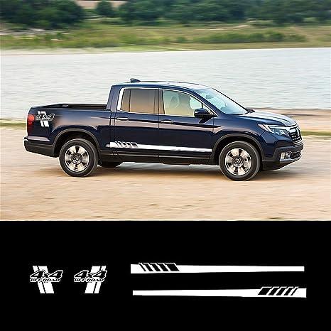 Honda Ridgeline Off Road >> Amazon Com White Decal Sticker Side Stripes Graphics L
