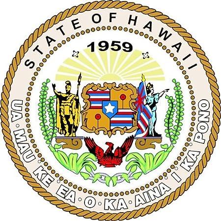 Hawaii State Usa Seal Hochwertigen Auto Autoaufkleber 12 X 12 Cm Küche Haushalt