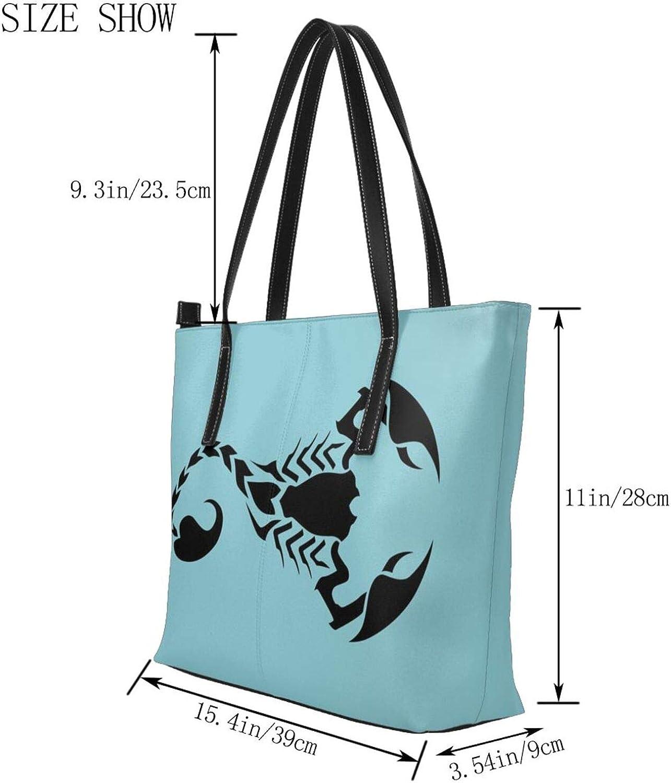 FeiHuang Leather Handbags Penguin Lion Hippo Owl Snowflake Shoulder Tote Bag Satchel Purse Zipper Top Handle For Women Girls