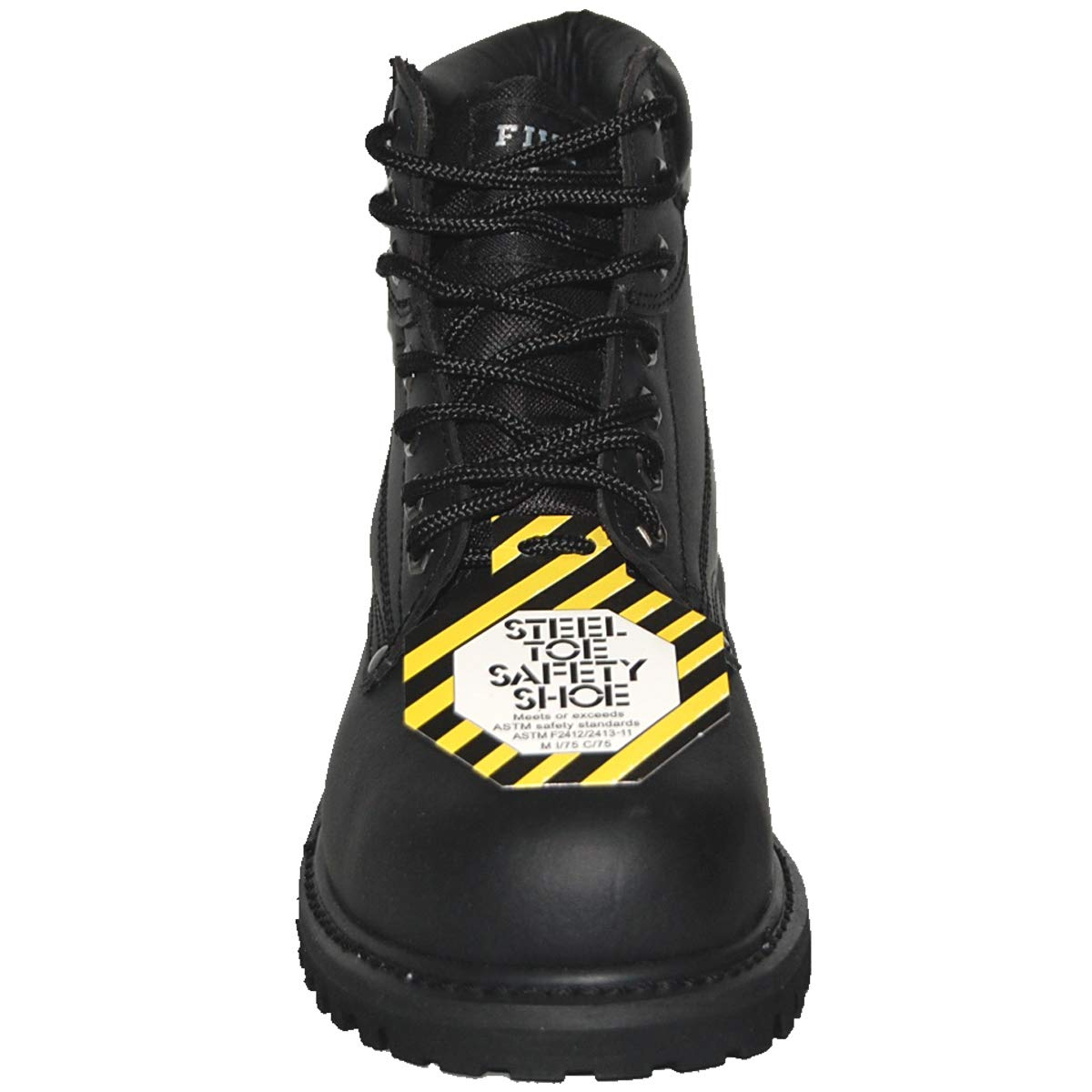 Krazy 5 Star Safety Steel Toe Leather 6 Inch Black Water Resistant Mens Work Boot